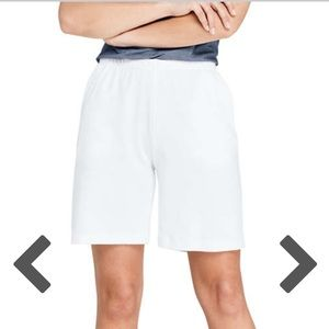 Lands end white cotton shorts
